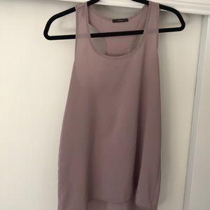 Soprano size small purplish gray racerback top